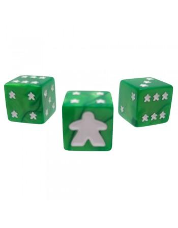 Dados Meeple D6 Set verde